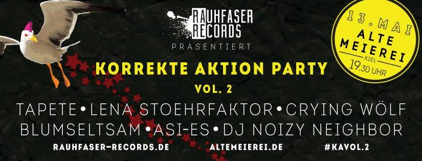 Korrekte Aktion Party – conscious music/art/project show-